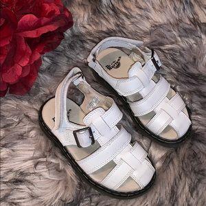 Dr. Martens White Sandals Toddler